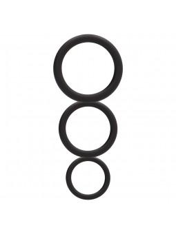 ROUND COCK RING SET BLACK
