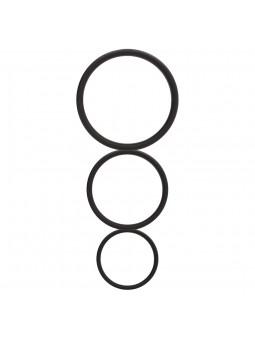 FLAT COCK RING SET BLACK