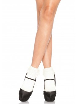 ANKLE HIGHS WITH LACE TOP...