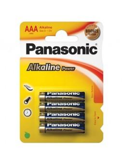 4 AAA ALKALINE PANASONIC...