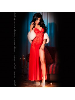 BABYDOLL AND THONG CR-3471 RED